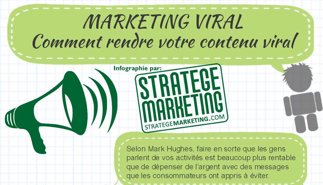 Infographie : comment rendre votre contenu viral (marketing viral)