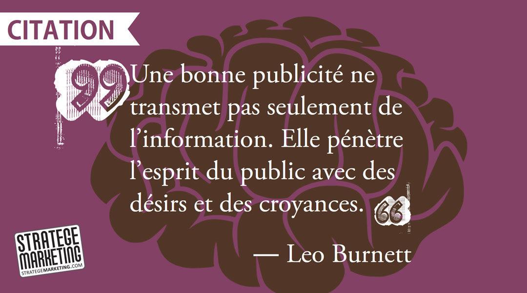 « Une bonne publicité ne transmet pas seulement de l'information…